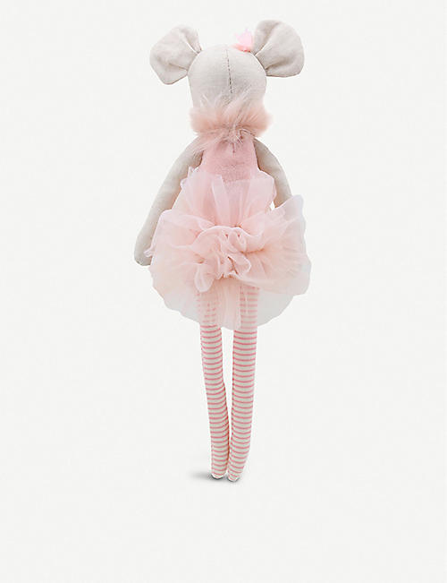 THE PUPPET COMPANY Faux fur trim ballerina mouse