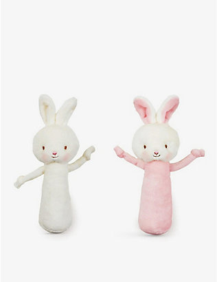BUNNIES BY THE BAY: Friendly chime soft toy rattle 15cm