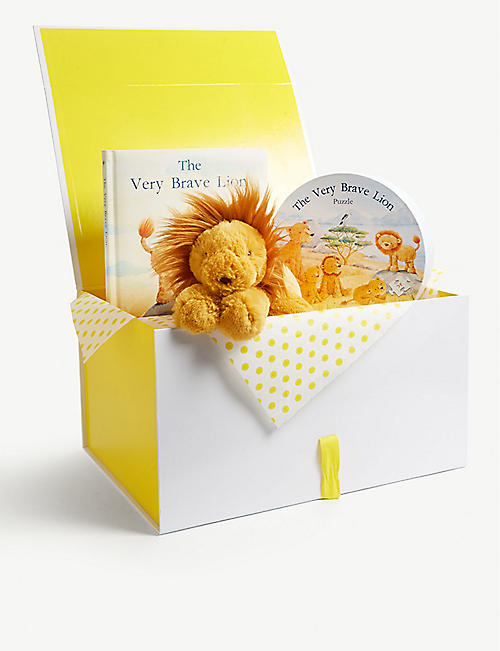 JELLYCAT Smudge Lion hamper set of three