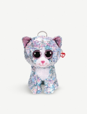 TY Whimsy Cat flippable-sequin backpack