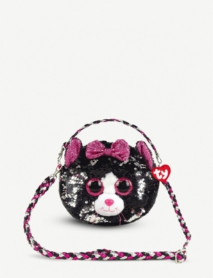 TY Kiki Cat flippable-sequin shoulder bag