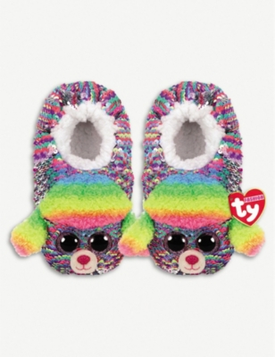TY Rainbow flippable sequin slippers small