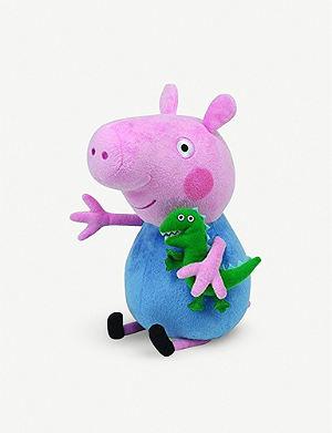 PEPPA PIG - Peppa George Superhero Beanie Baby soft toy 33cm ... d6d06d95877a