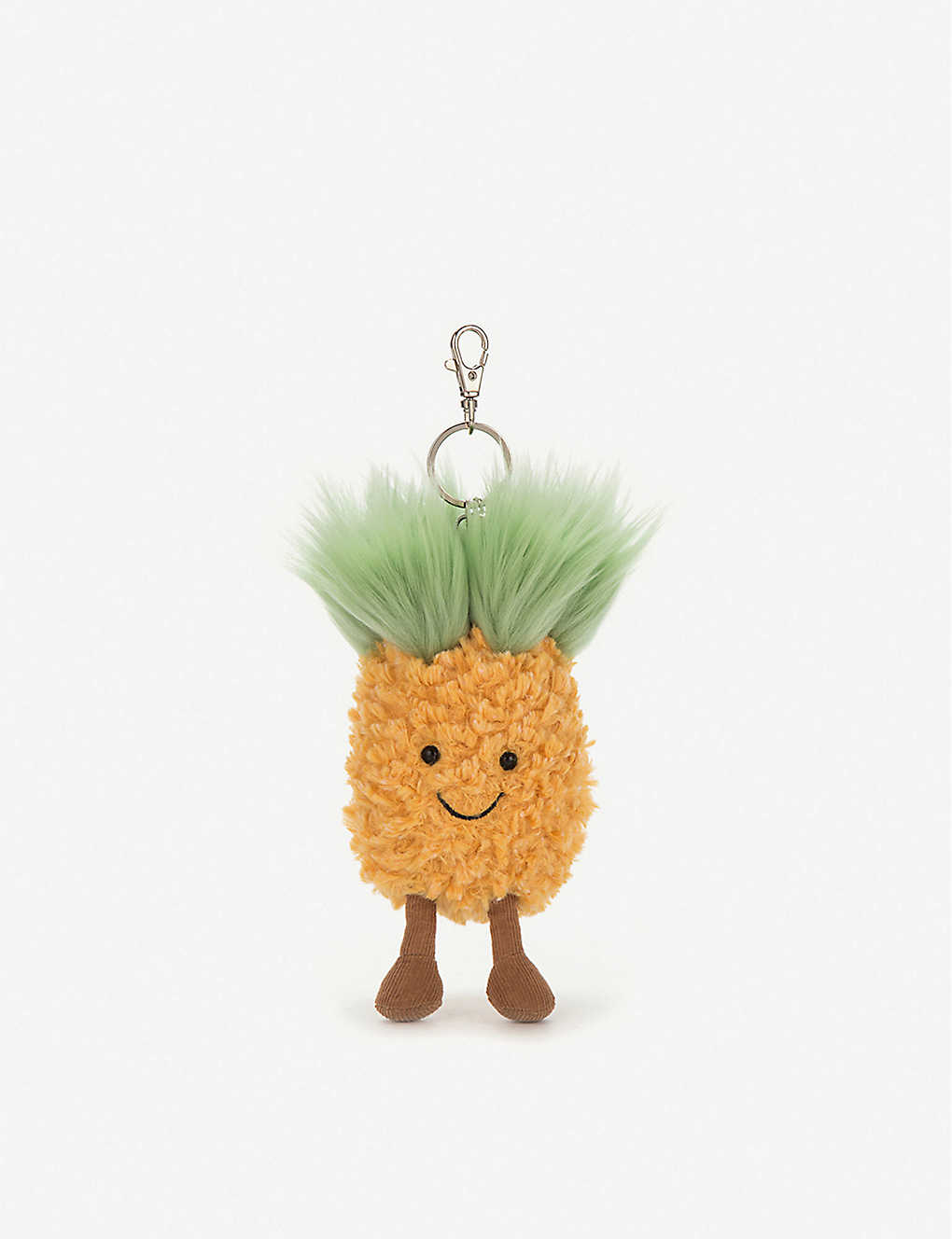 JELLYCAT: Amuseable Pineapple plush bag charm 10cm