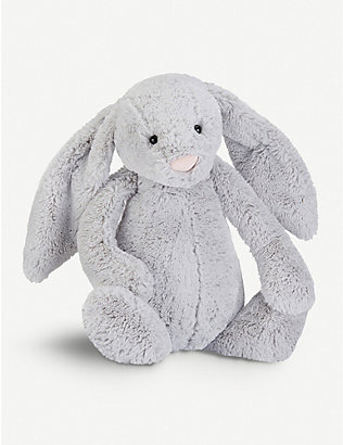 JELLYCAT: Bashful plush silver bunny really big