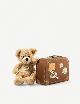 STEIFF: Fynn plush teddy bear in suitcase 28cm