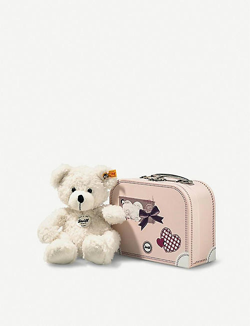 STEIFF Lotte teddy bear and suitcase 28cm