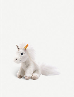 STEIFF: Floppy Unica unicorn plush soft toy 18cm