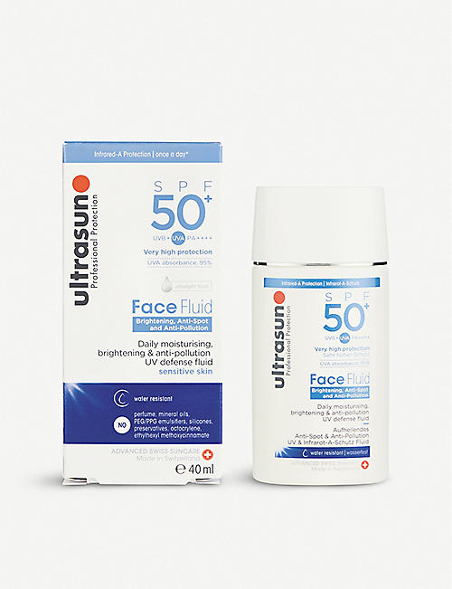 ULTRASUN Daily Face Fluid SPF50+ Brightening and Anti-Pollution 40ml