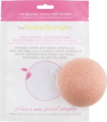 THE KONJAC SPONGE COMPANY Konjac Facial Puff Sponge With Pink French Clay