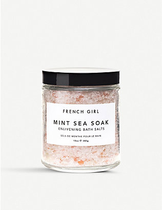 FRENCH GIRL: Mint Sea Soak bath salts 283g