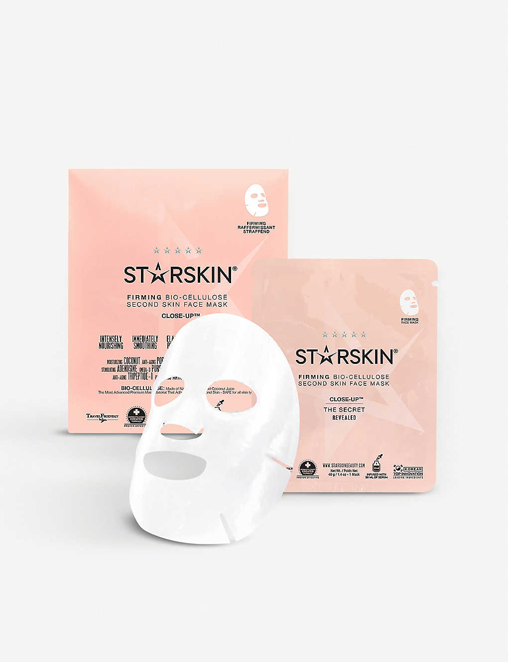 STARSKIN: Close-Up - Firming Coconut Bio-Cellulose Second Skin Face Mask