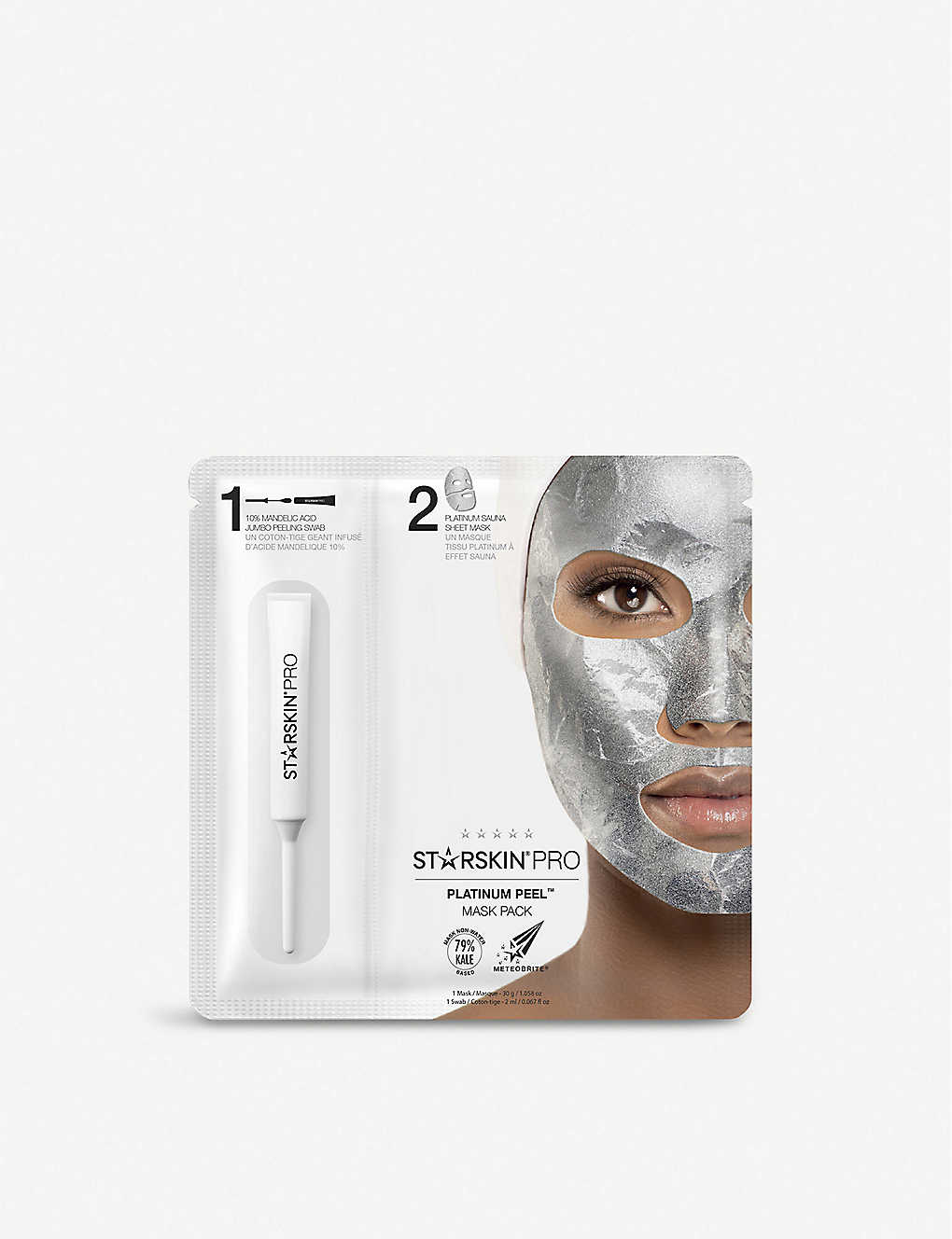 STARSKIN: Platinum Peel Foil Sheet Mask Pack