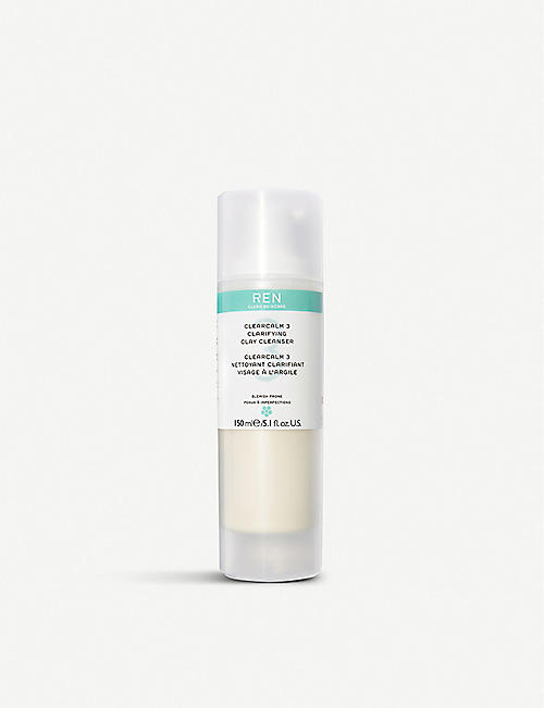 REN: Clearcalm 3 Clarifying Clay Cleanser 150ml