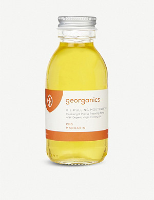 GEORGANICS Oil Pulling Mouthwash Red Mandarin 100ml