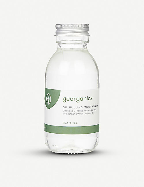 GEORGANICS Oil Pulling Mouthwash Tea Tree 100ml