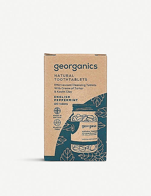 GEORGANICS Natural Toothtablets English Peppermint