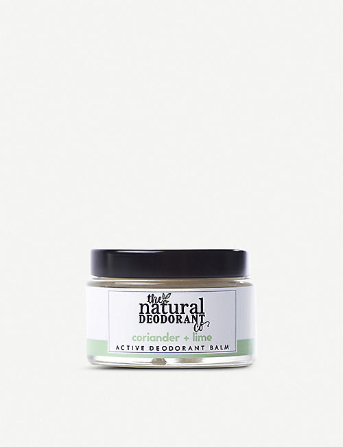 THE NATURAL DEODORANT CO: Active Deodorant Balm Coriander + Lime 55g