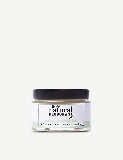 THE NATURAL DEODORANT CO Active Deodorant Balm Mint + Eucalyptus 55g