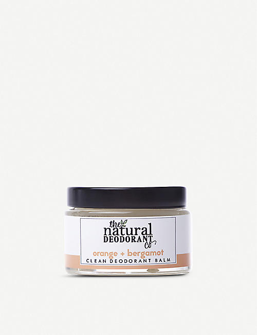 THE NATURAL DEODORANT CO Clean Deodorant Balm 'Orange + Bergamot'