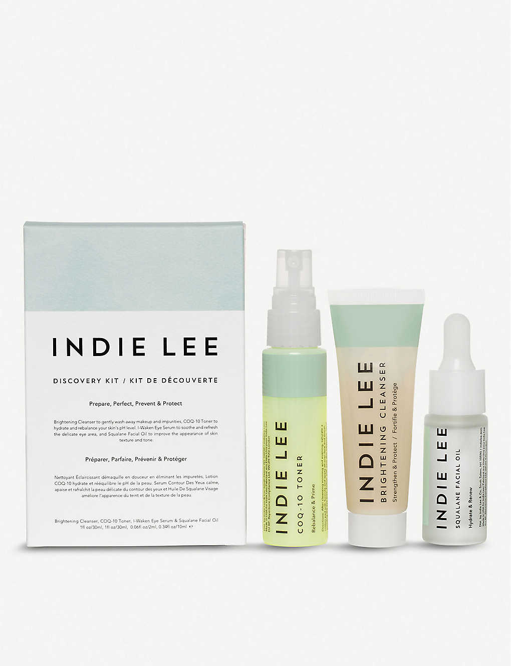 Indie Lee Discovery Kit Skincare Gift Set In White