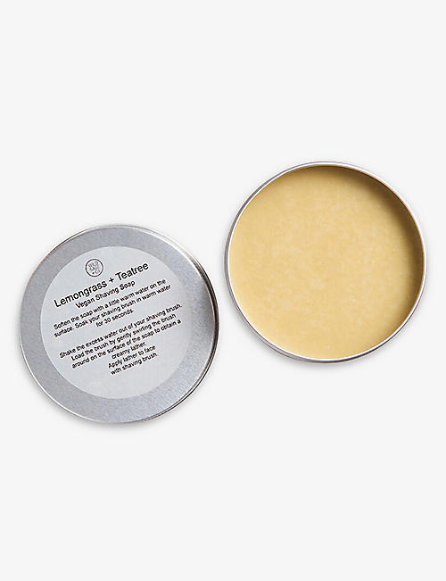 WILD SAGE & CO: Lemongrass and Tea Tree shaving soap 150ml