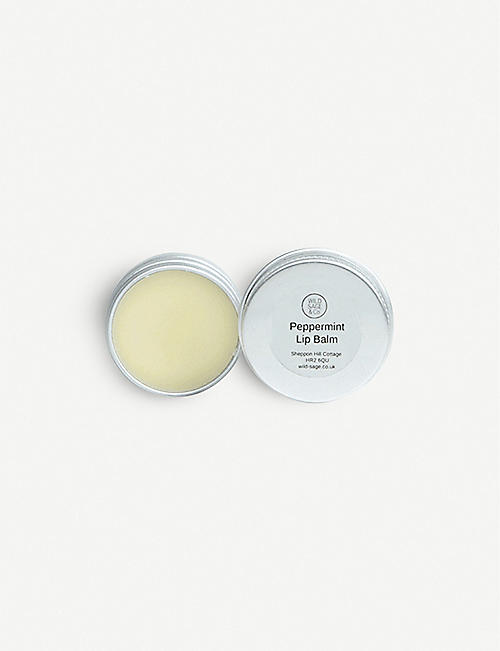 WILD SAGE & CO Peppermint lip balm 15g