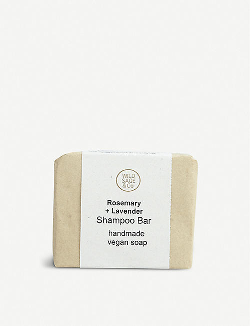 WILD SAGE & CO Shampoo Bar Rosemary + Lavender 100g