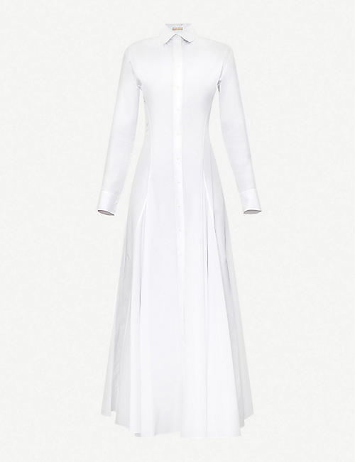 AZZEDINE ALAIA: Cotton-poplin midi dress