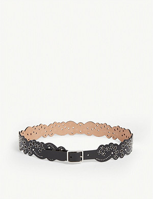 AZZEDINE ALAIA Studded leather belt
