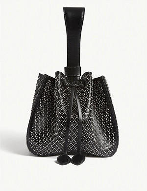 AZZEDINE ALAIA Cuir Lux Losange leather shoulder bag