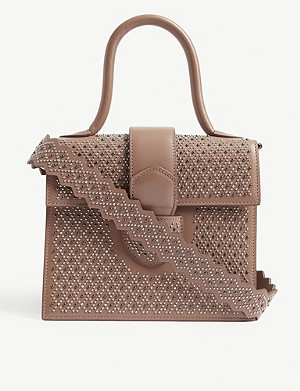AZZEDINE ALAIA Leonie small studded leather tote