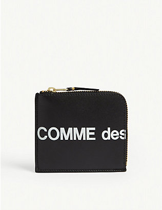 COMME POCKET: Logo leather wallet