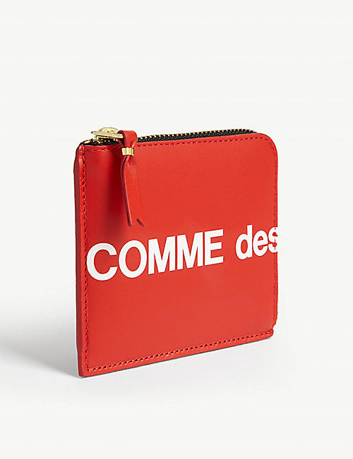 COMME POCKET Logo leather wallet