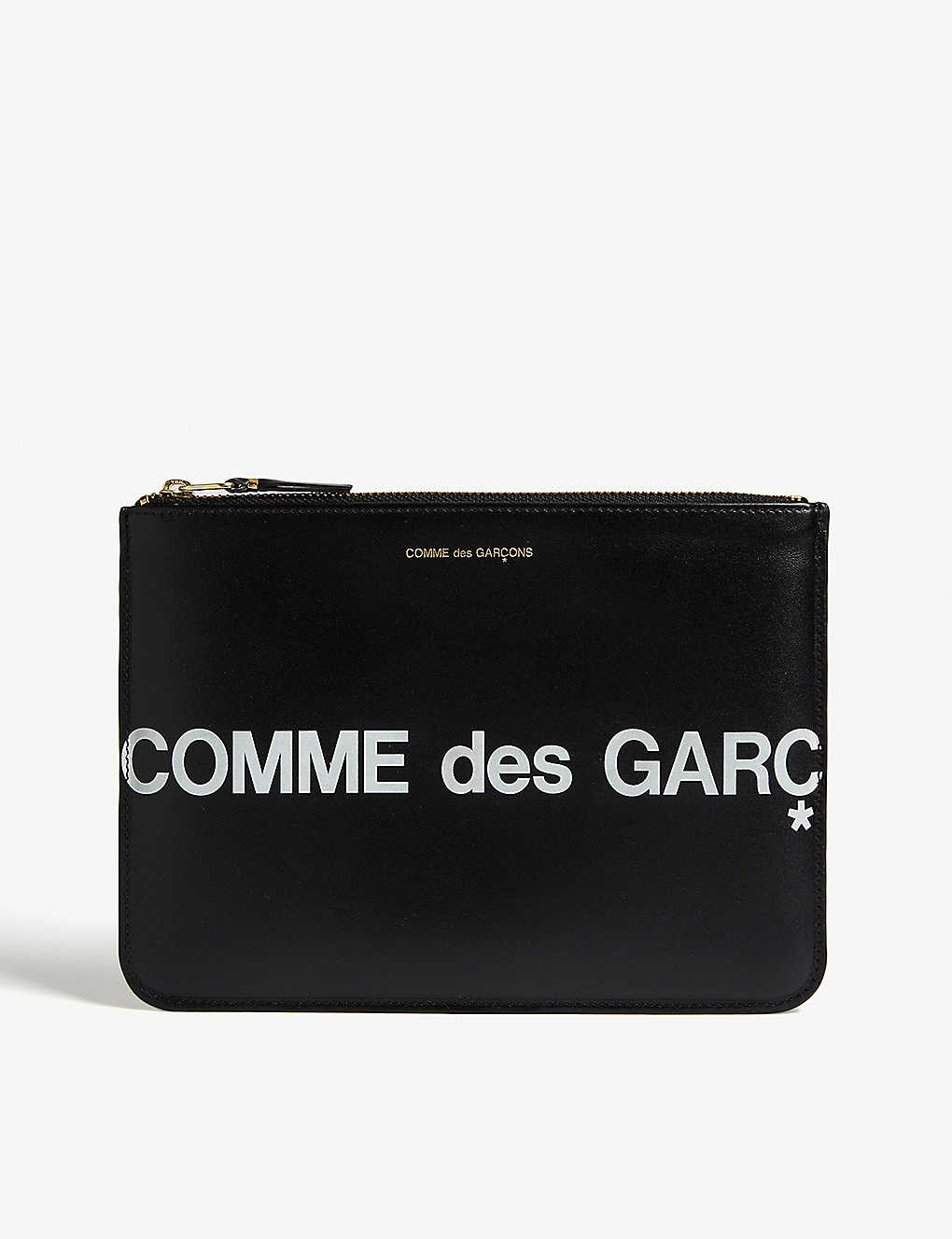 COMME POCKET: Logo leather pouch