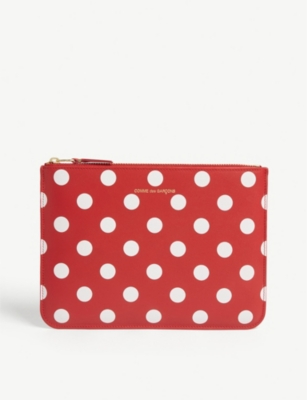 COMME POCKET Polka dot pouch bag