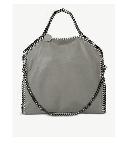 49562accd1 STELLA MCCARTNEY Falabella faux-suede shoulder bag (Light+grey