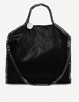 STELLA MCCARTNEY: Falabella medium faux-suede shoulder bag