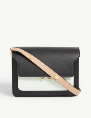 MARNI Trunk medium bi-colour leather shoulder bag