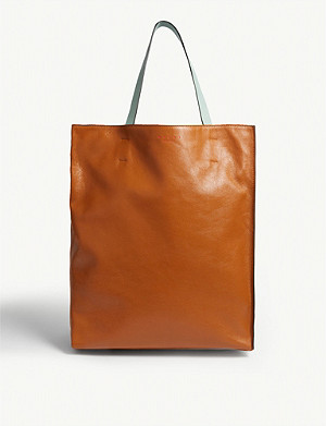 MARNI Museo large leather tote