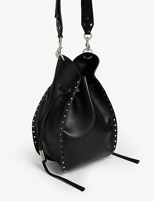 ISABEL MARANT Taj studded leather bucket bag