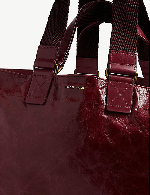 ISABEL MARANT Wardy leather tote bag