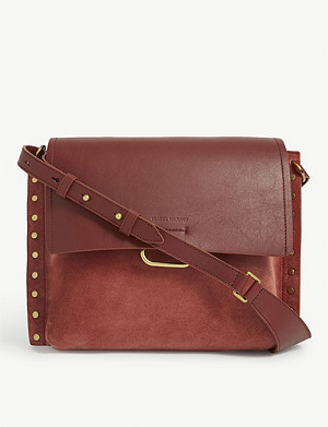 ISABEL MARANT Asli leather and suede cross-body bag