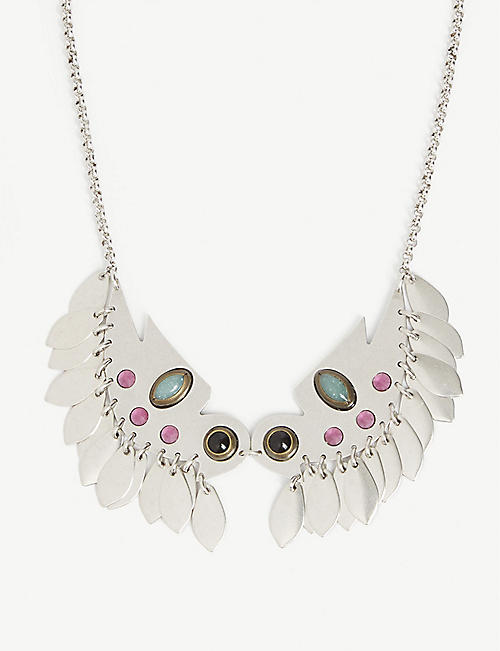 ISABEL MARANT Birdy beaded necklace