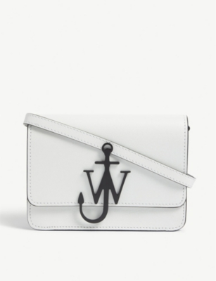 JW ANDERSON Logo mini leather cross-body bag