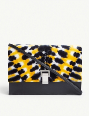 PROENZA SCHOULER Tie-dye velvet and leather small cross-body bag