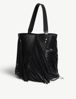 PROENZA SCHOULER Hex medium leather fringed shoulder bag