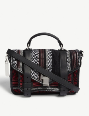 PROENZA SCHOULER PS1 tiny leather and canvas shoulder bag