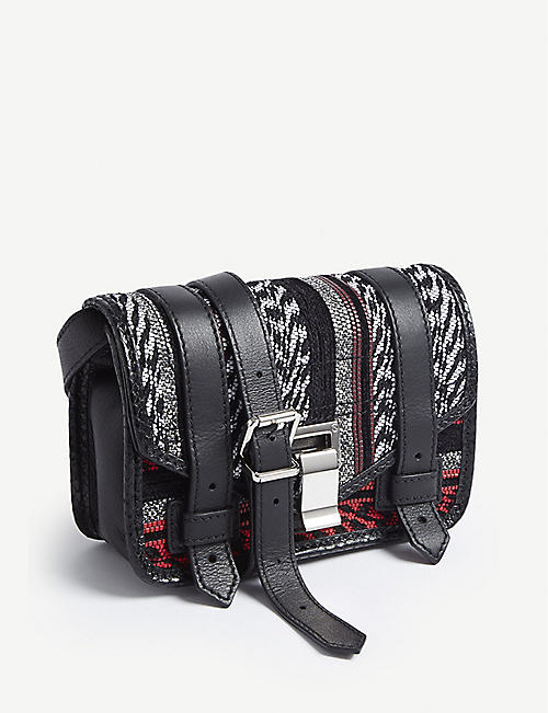 PROENZA SCHOULER PS1+ mini woven leather cross-body bag