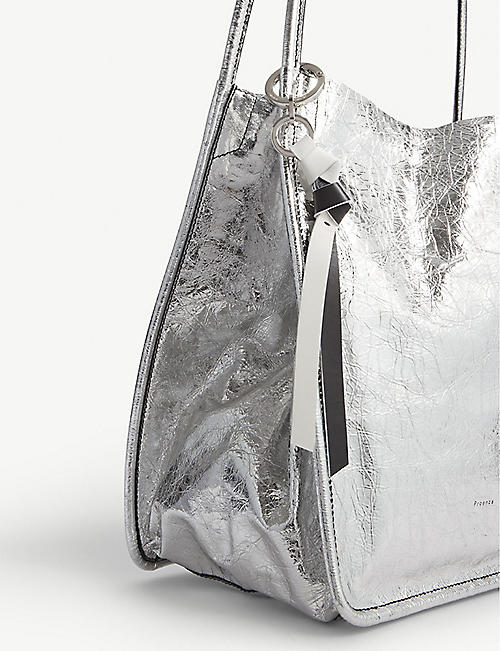 PROENZA SCHOULER Metallic leather tote bag